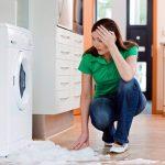 wasmachine lekt water